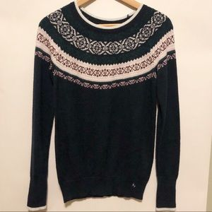 Hollister Navy Fair Isle Sweater NWT- Size XS